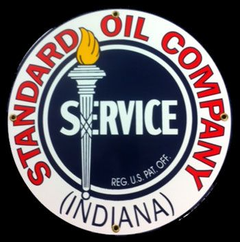 oil company signs | Standard Oil Company Porcelain Sign Vintage Gas