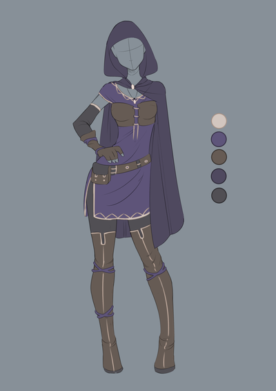 Commission April 07 Outfit Design By VioletKy On ...