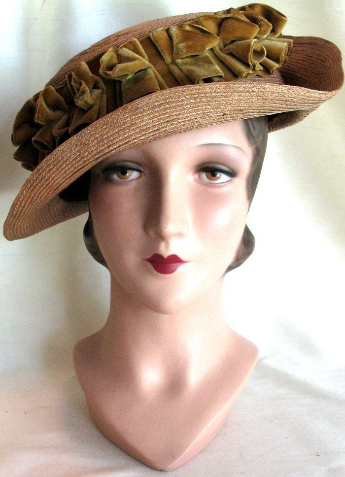 Stunning! Vintage Early 1900 s Antique Edwardian Hat VG Condition ... 8e8e297d748