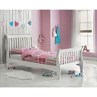buy daisy sleigh single bed frame white at argoscouk your - Childrens Bed Frames