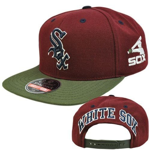 71ce920b8cccf MLB American Needle Blockhead Earthtone Hat Cap Snapback Wool Chicago White  Sox by American Needle.