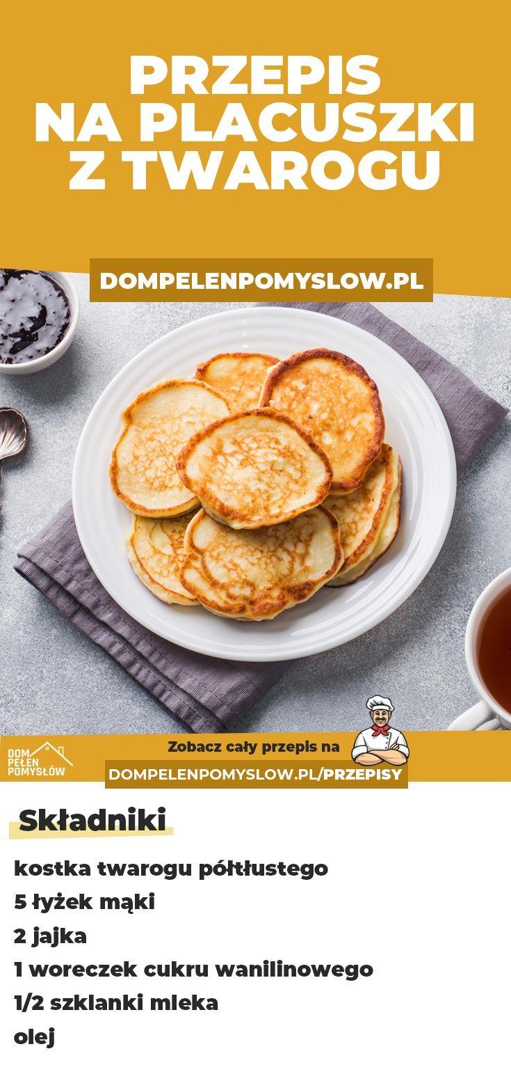 Szukasz pomysłu na smaczne śniadanie lub kolację? Placuszki z twarogu będą idealnym przepisem na taką okazję :)