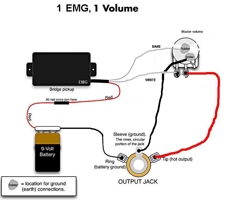 Emg 1 Dalam Emg 81 85 Wiring Diagram Pick Up Wire Guitar Classes
