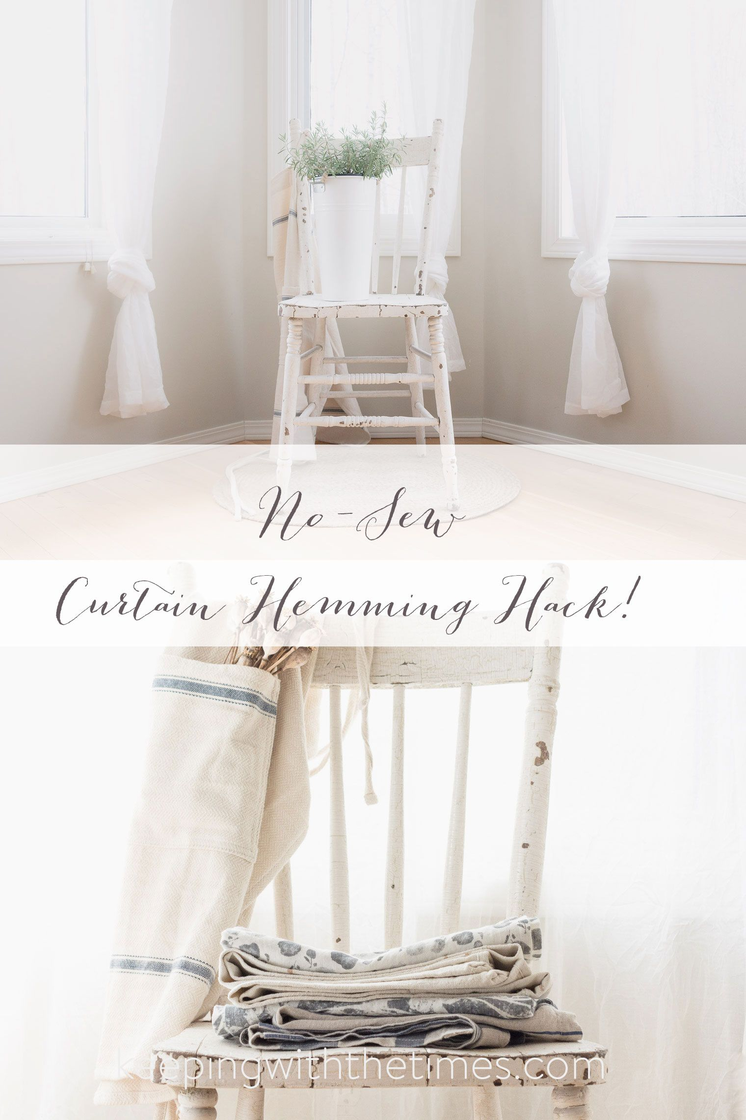 how to hem curtains in 10 seconds im sure this will come in handy one of these days - How To Hem Curtains
