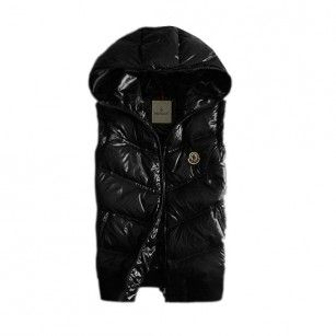 5e61137c5 France Moncler Quilted Body Warmer Black Vest Men Online