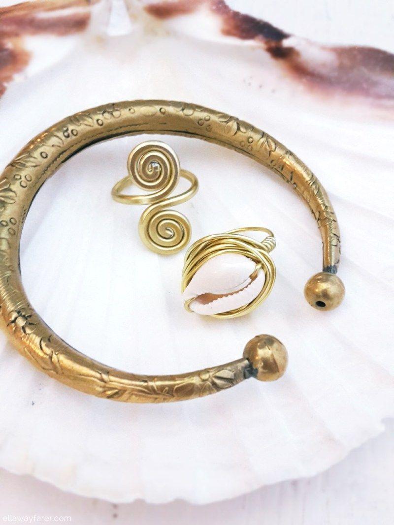 Kauri Ring mit Muschel ganz leicht selbermachen | Selbermachen diy ...