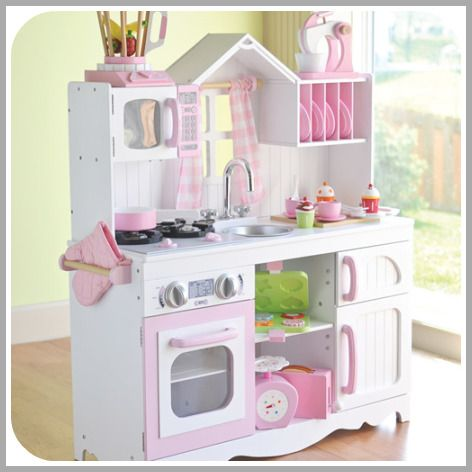 Great Kids Toy Kitchens That Are Not Made Of Plastic Love The Red Retro Kitchen Cool Kids