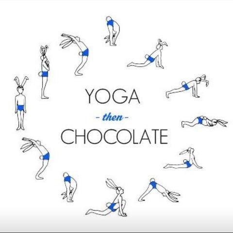 easter monday  chocolate hangover yoga easteryoga  all