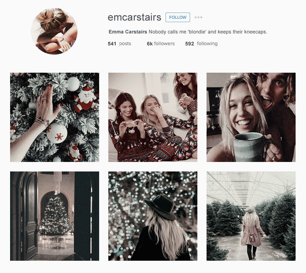 Emma, Julian and Cristina + Christmas Instagram