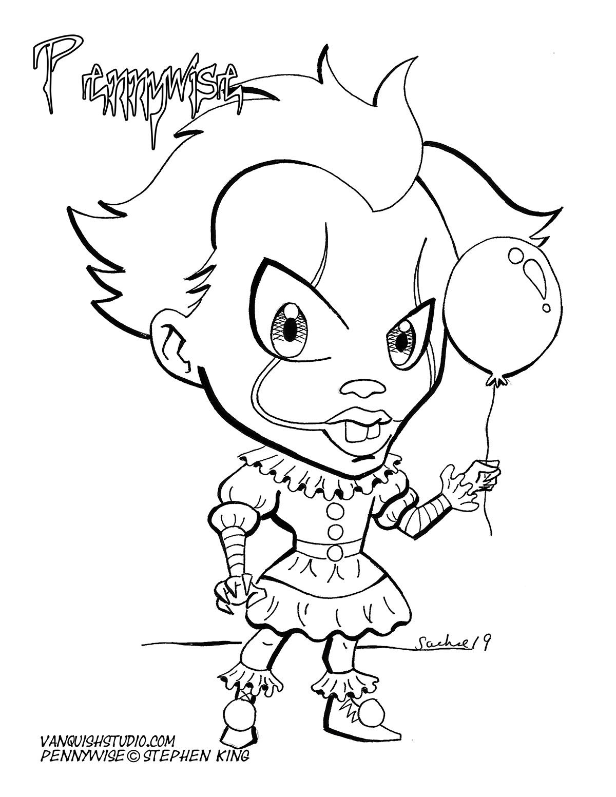 Coloring Pages Of Pennywise Trend