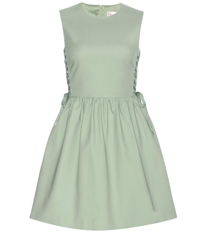 Green lace up dress  REDValentino  Laceup dress  REDValentinous girlish green dress is