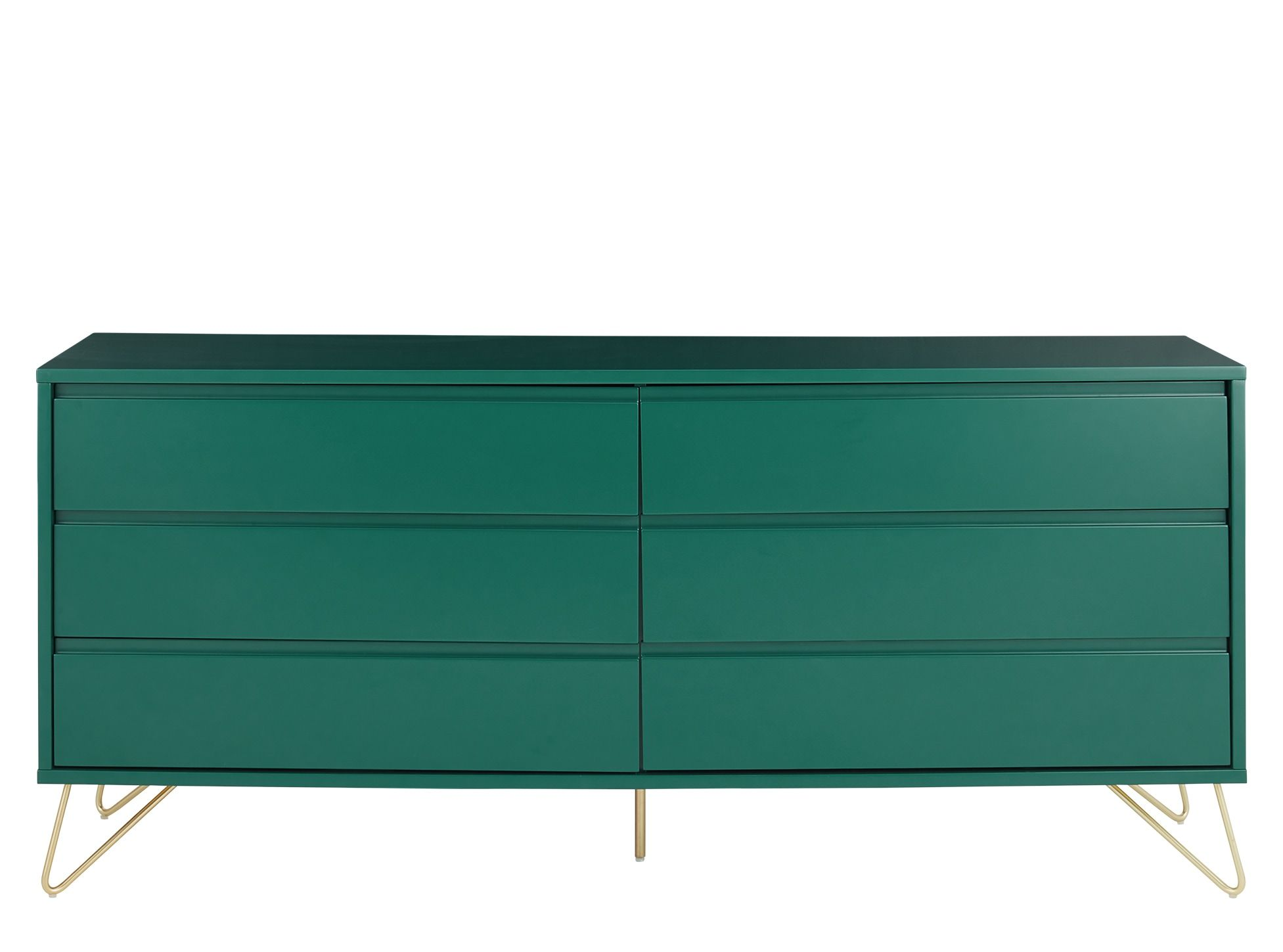 Elona Wide Chest Of Drawers Racing Green