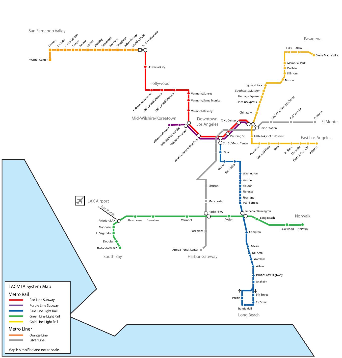 Metro Map La Compressportnederland