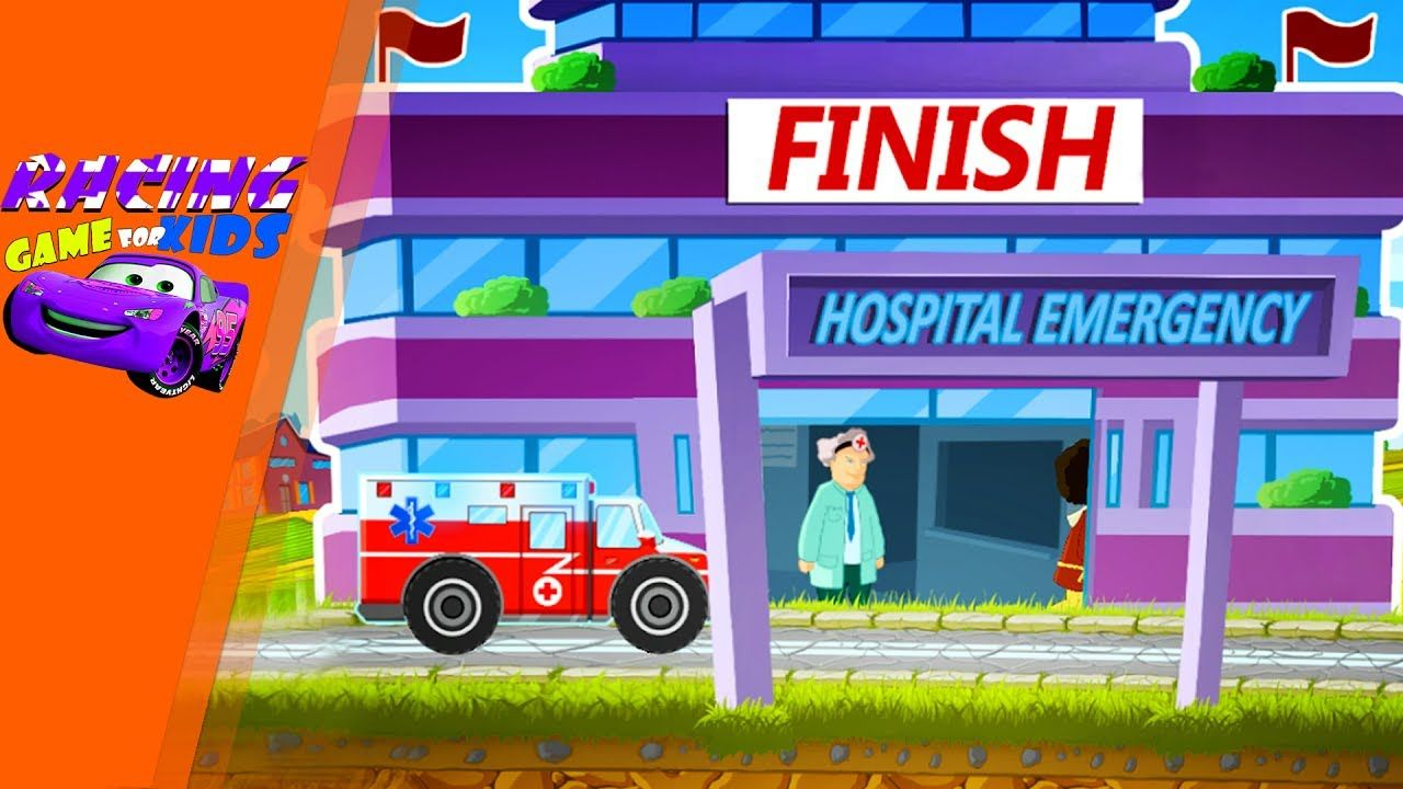 Emergency Car Racing Hero Gameplay 2d Terrain Racing Games