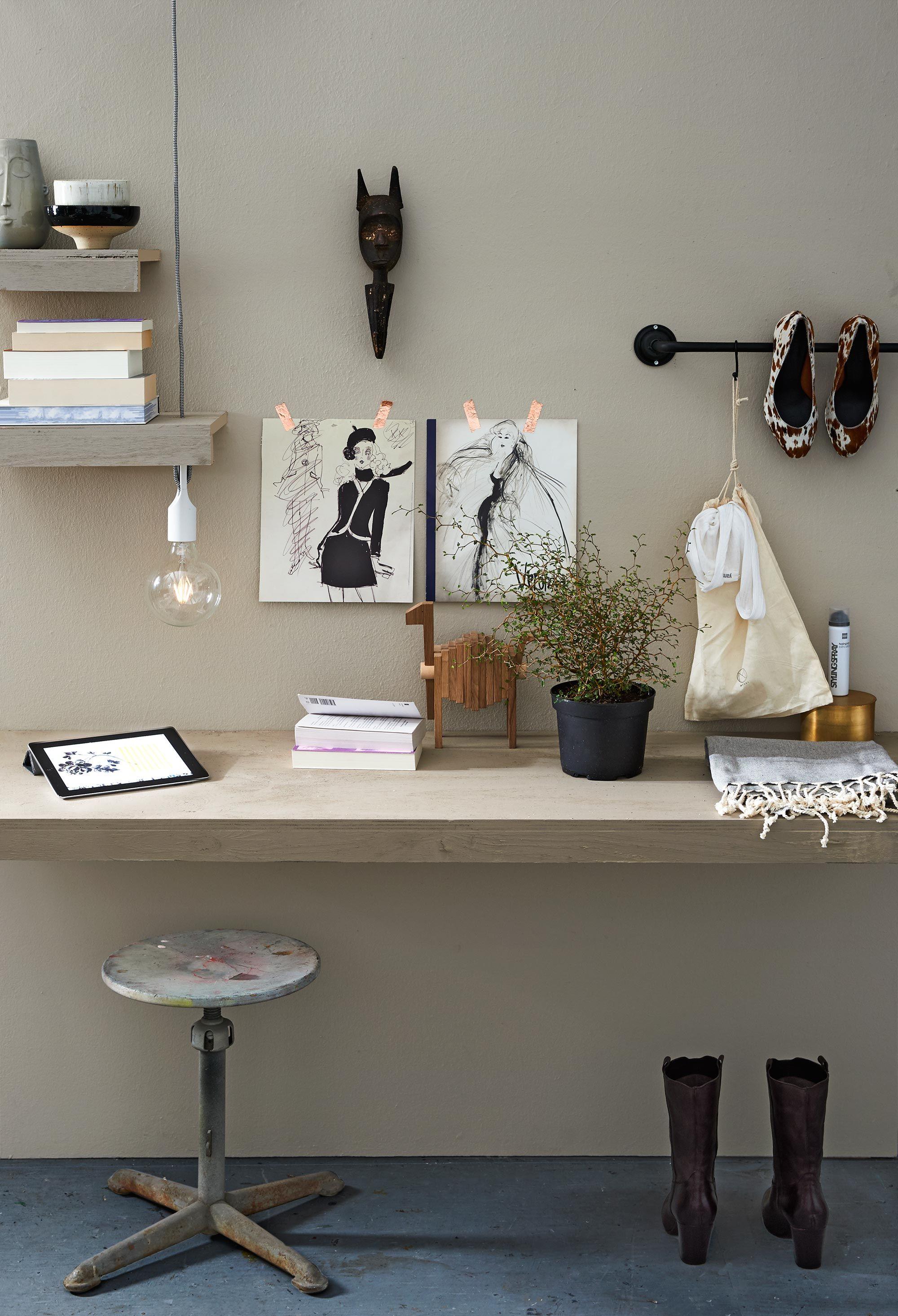 slaapkamer styling werkplek flax   For the Home   Pinterest ...