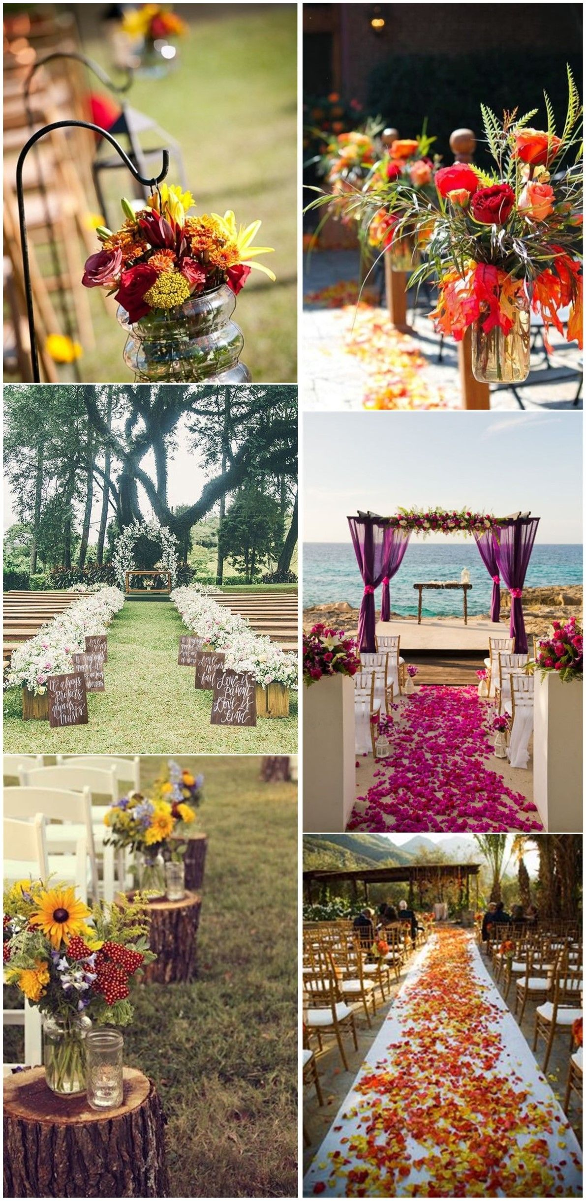 Fall Weddings 29 Awesome Wedding Aisle Decorations For