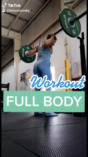 Full Body BARBELL workout with Form Tips 💪💙 @lubachabsky