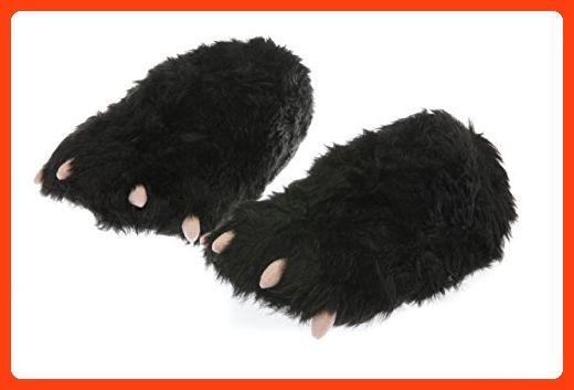 Comfy Feet Erwachsene Waldland Freunde Kunstpelz Riesige Tier Neuheit Fuß Massage Pantoffeln - Biber, Einheitsgröße