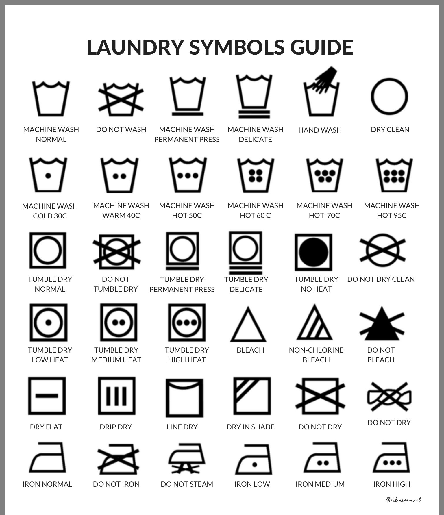 Pin By Carolyn Murphy On Great Ideas Laundry Symbols Dry Wash