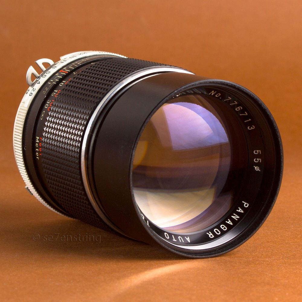 Panagor 135mm F2 8 Telephoto Portrait Lens Nikon F Ai Fit Dslr Adaptable Eos Cameras And Accessories Vintage Lenses Dslr