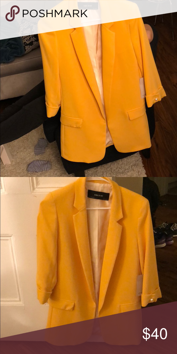 d303f818 Zara Blazer Yellow/orange Zara Basic blazer jacket. In new condition, never  worn with tag. Zara Jackets & Coats Blazers