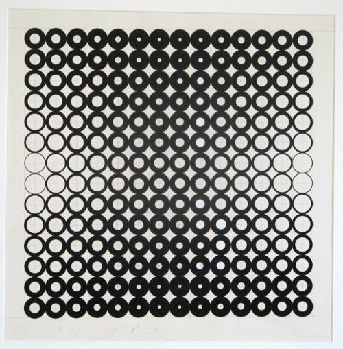 Francis Hewitt, Size Change Drawing #2, 1968, Ink on Paper, 28.5 x 22.5 inches
