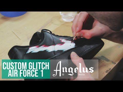 info for 81e32 956b5 Custom Nike Air Force 1 Glitch   Angelus Paint - YouTube