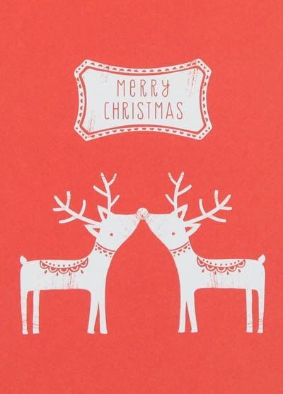 Small Charity Reindeer Cards