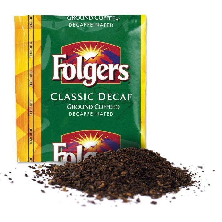 Folgers Coffee Classic Roast DECAF 42/1.50oz Pillow Pack
