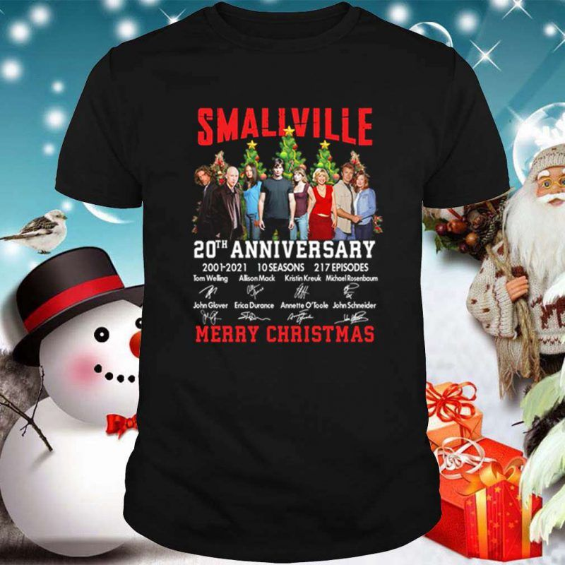 Christmas 2021 New Episodes Smallville 20th Anniversary 2001 2021 10 Seasons 217 Episodes Merry Christmas Shirt Merry Christmas Shirts Christmas Shirts 20th Anniversary
