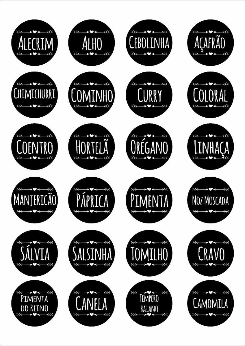 Etiquetas Para Imprimir Gratis Condimentos Pesquisa Google