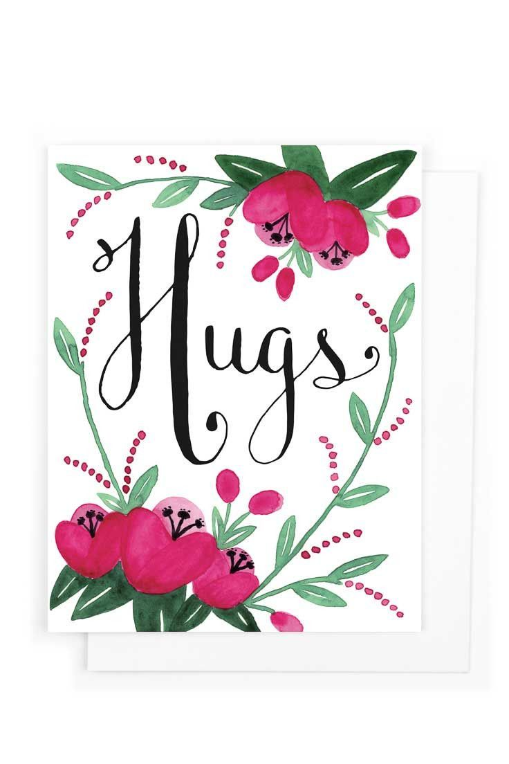 Hugs get well card pinterest hard times envelopes and hug greeting card a simple card for someone going through a hard time inside blank card a2 size 4 14 x 5 12 110 lb stock printed on hp indigo m4hsunfo