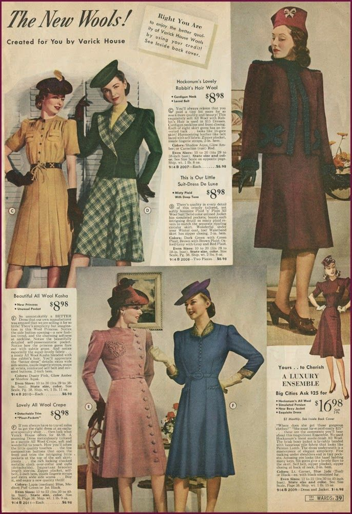 More Forties Inspired Flair: NewVintageLady: Catalog Sunday