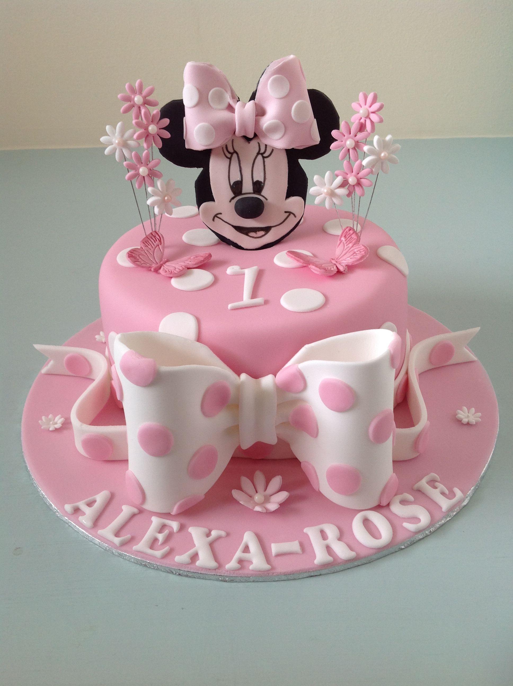 Mini mouse 1st birthday cake mini mouse birthday cake