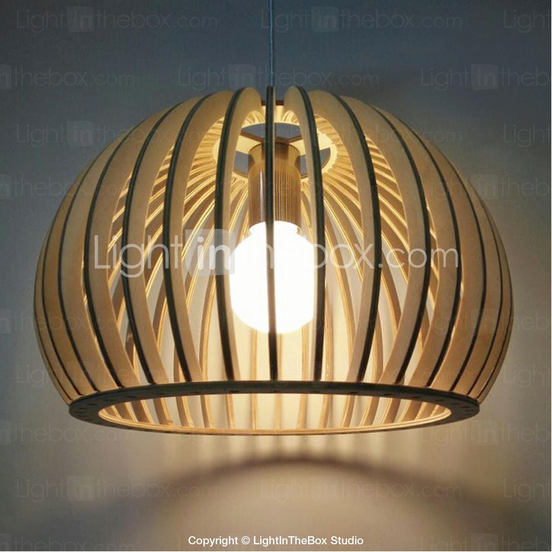 Contreplaqué Bambou 3 Mm 12w lampe suspendue , lanterne autres fonctionnalité for