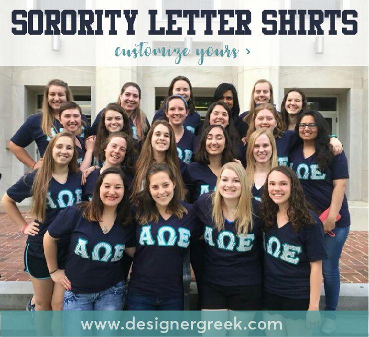 Sorority Letter Shirts   Twill Letters   Custom Greek
