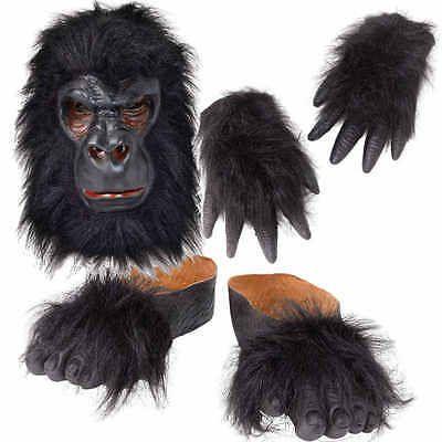 #Gorilla mask hands feet kit ape monkey #fancy #dress king kong costume  sc 1 st  Pinterest & Gorilla mask hands feet kit ape monkey #fancy #dress king kong ...