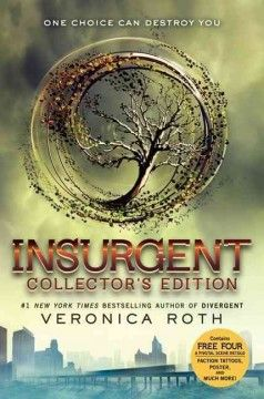 Insurgent by Veronica Roth.  Click the cover image to check out or request the teen kindle.