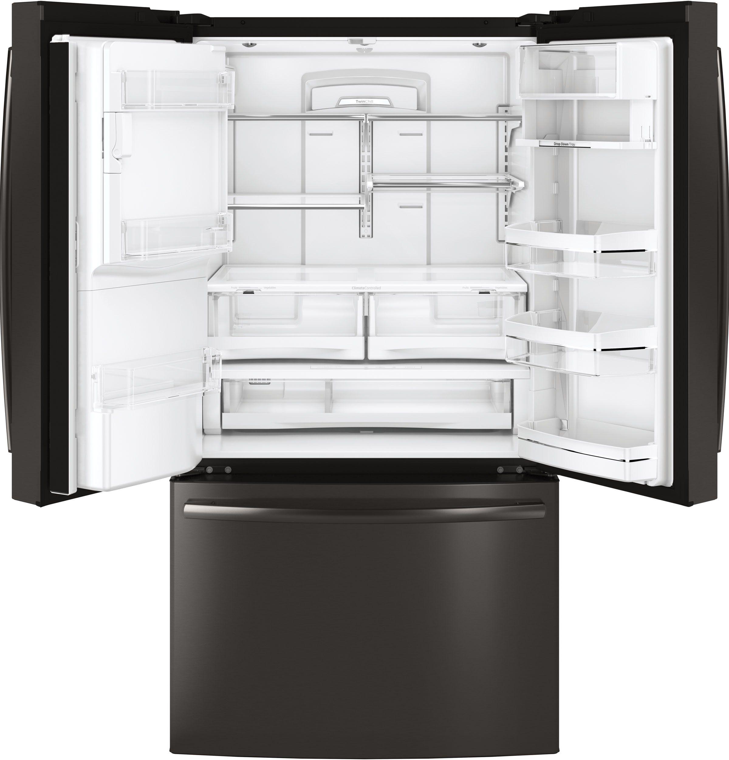 Ge Profile 36 Inch French Door Refrigerator 27 8 Cu Ft Black