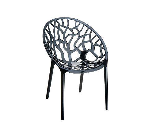 clp design gartenstuhl crystal aus kunststoff i wetterbest ndiger stapelstuhl mit einer. Black Bedroom Furniture Sets. Home Design Ideas