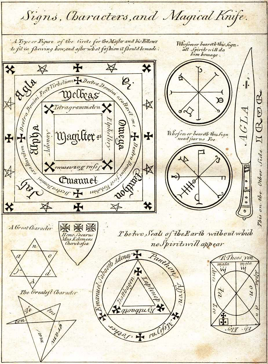 Sigils Symbols Signs Characters And Magickal Knife Alchemy