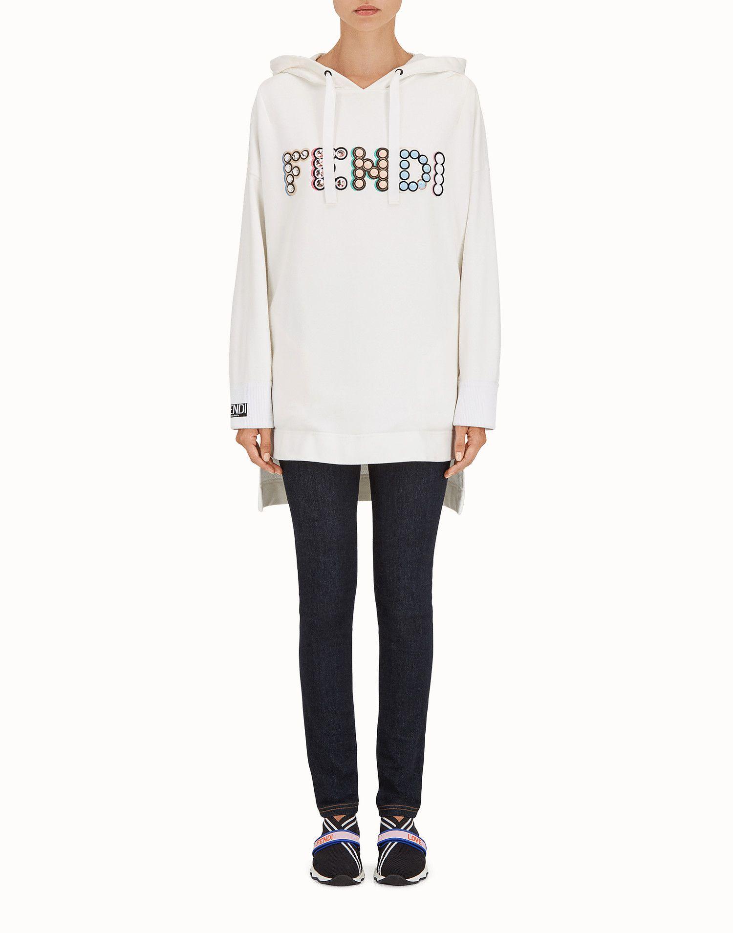 pretty nice 81f00 254a4 FENDI スウェットシャツ - ホワイトコットン スウェットシャツ ...