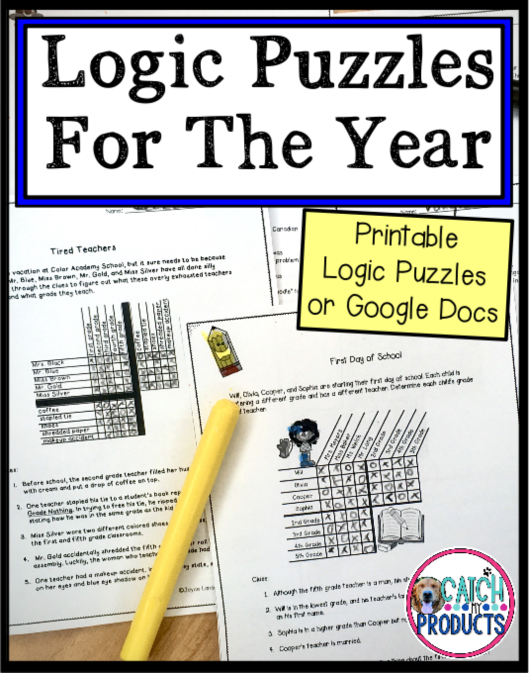 Logic Puzzles Distance Learning For 4th Grade