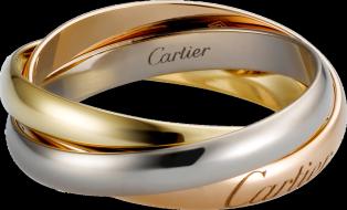 fdbaad69dc0 Anel Trinity de Cartier MP Ouro branco