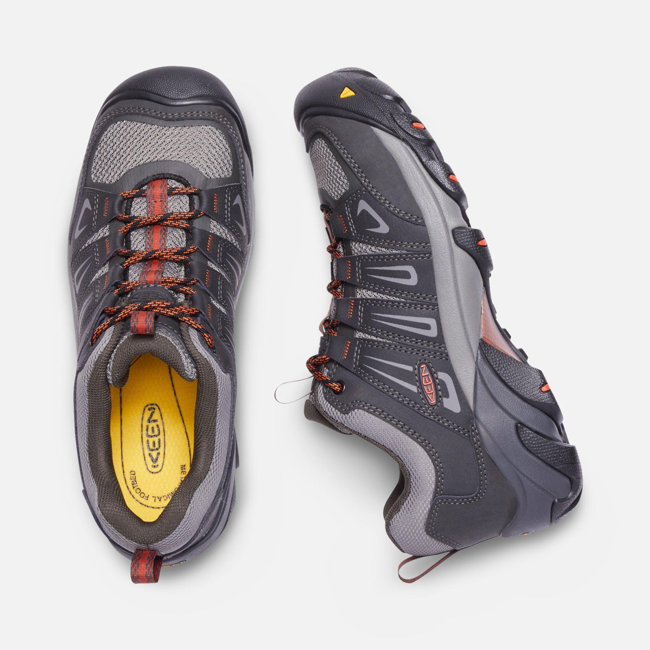 Keen Men S Steel Toe Boot Boulder Low 9 5 Raven Burnt Ochre