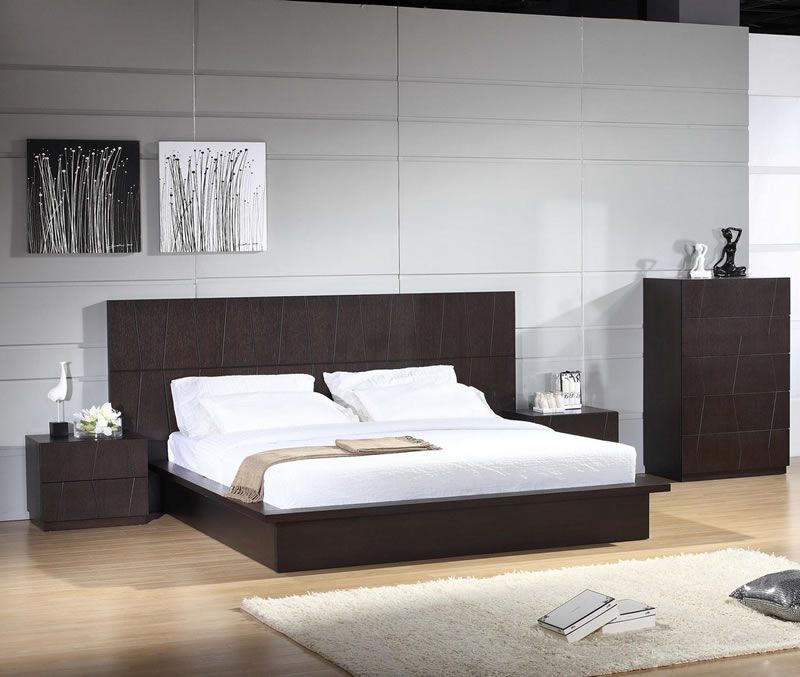 Contemporary Bedroom Furniture Stores: Anchor Modern Platform Bed
