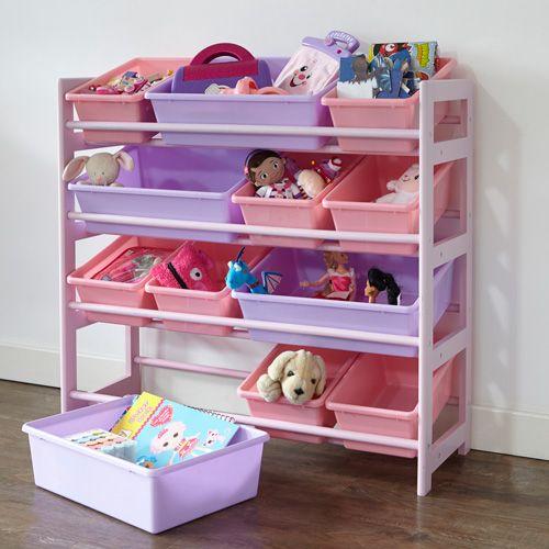 4 Tier Toy Storage Unit - Pink & 4 Tier Toy Storage Unit - Pink | Kids bedrooms | Pinterest | Toy ...