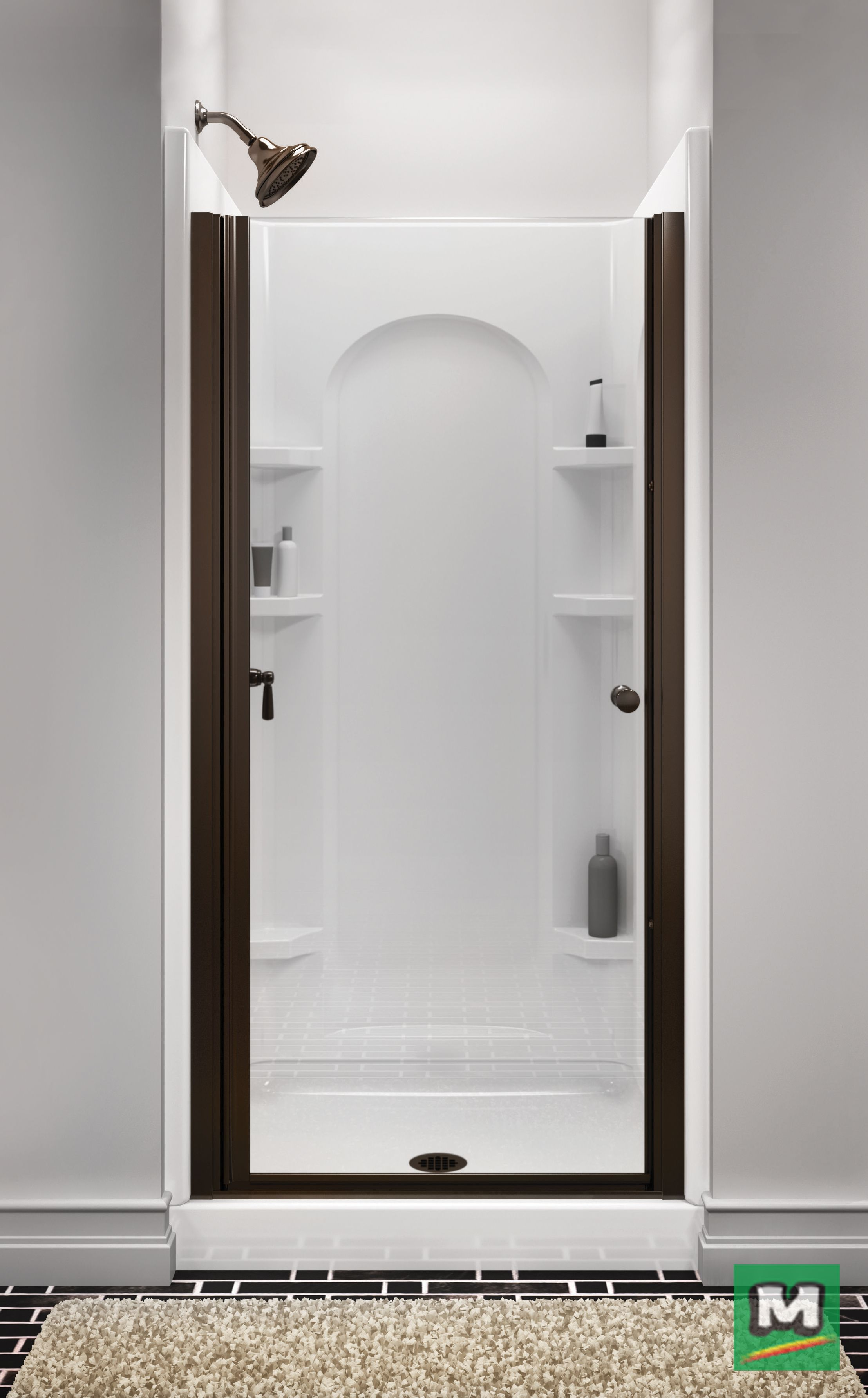 The Sterling Finesse Frameless Hinge Shower Door Offers Long