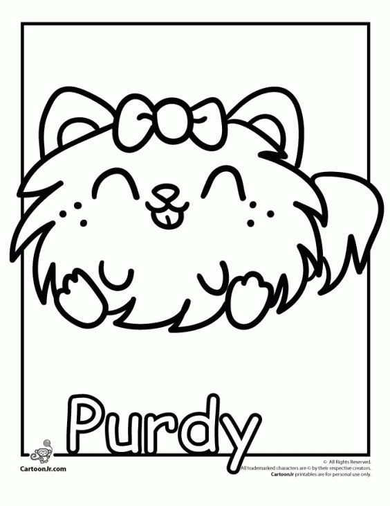 Purdy From Moshi Monsters Coloring Sheet Free Online | Fun Coloring ...
