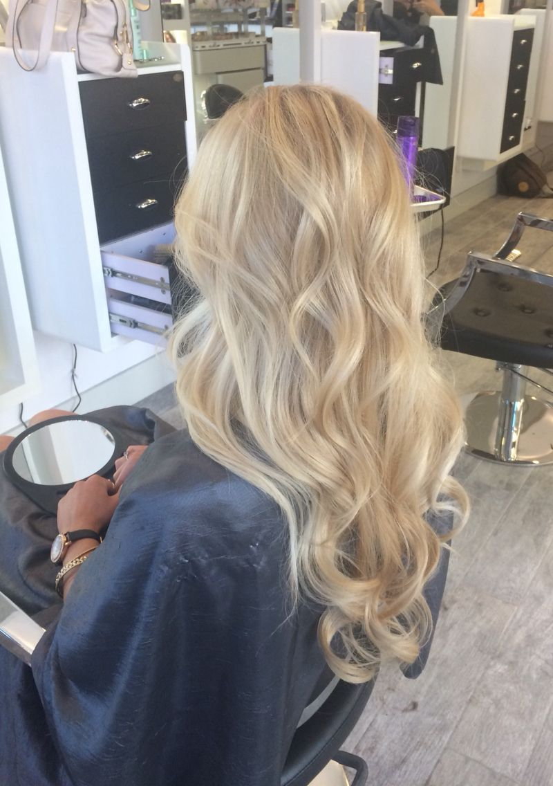 Balayage cool tone blonde hair and nails uc pinterest